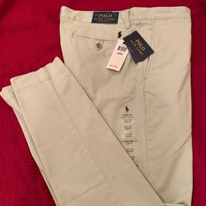 Polo Green Stretch Straight Fit Chinos
